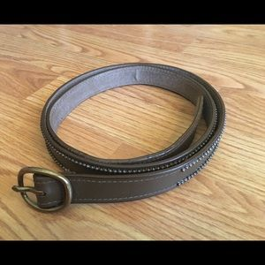 Loft vintage brown ladies leather belt sz L